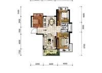 A10a户型 三房两厅一卫 95㎡ 3室2厅1卫1厨 95.00㎡