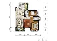 A5户型 三室两厅两卫 109㎡ 3室2厅2卫1厨 109.00㎡