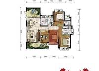 A1户型 四房两厅三卫 162㎡ 4室2厅3卫1厨 162.00㎡