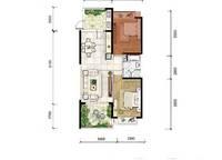 A8a户型 两房两厅一卫 84㎡ 2室2厅1卫1厨 84.00㎡