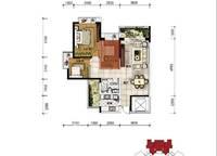 A3户型 三房两厅一卫 95㎡ 3室2厅1卫1厨 95.00㎡