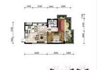 A15a户型 一室一厅一卫 46㎡ 1室1厅1卫1厨 46.00㎡