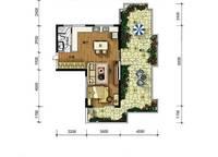 A11户型 一房两厅一卫 68㎡ 1室2厅1卫1厨 68.00㎡