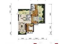 A12户型 两房两厅两卫 112㎡ 2室2厅2卫1厨 112.00㎡