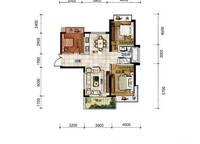 A10户型 三房两厅一卫 104㎡ 3室2厅1卫1厨 104.00㎡