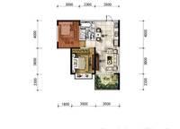 A9户型 两房两厅一卫 60㎡ 2室2厅1卫1厨 60.00㎡
