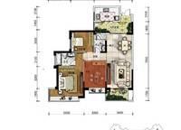 A2户型 三房两厅两卫 118㎡ 3室2厅2卫1厨 118.00㎡
