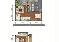E1户型 三室两厅三卫 104㎡ 3室2厅3卫1厨 104.00㎡