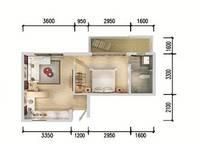 F3户型 一室一厅一卫 53.8㎡ 1室1厅1卫1厨 53.80㎡