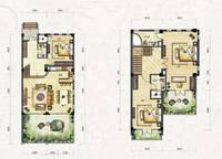 叠拼别墅D3-a户型(跃层) 三室两厅三卫 164㎡ 3室2厅3卫1厨 164.00㎡