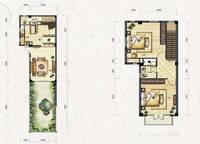 叠拼别墅D4-a户型(跃层)两室两厅两卫 112㎡ 2室2厅2卫1厨 112.00㎡