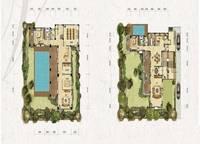 独栋别墅V1户型-一、二层 六室四厅六卫 486㎡ 6室4厅6卫1厨 486.00㎡