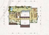 独栋别墅V3户型三层 四室六厅六卫 612㎡ 4室5厅6卫1厨 612.00㎡