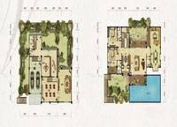 独栋别墅V3户型一、二层 四室六厅六卫 612㎡ 4室5厅5卫1厨 612.00㎡