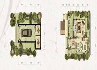 独栋别墅V4户型一、二层 五室四厅四卫 361㎡ 5室4厅4卫1厨 361.00㎡
