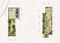联排别墅T1-a户型一、二层 三室两厅四卫 232㎡ 3室2厅4卫1厨 232.00㎡