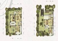 双拼别墅S1-a户型一、二层 四室四厅三卫 280㎡ 4室4厅3卫1厨 280.00㎡