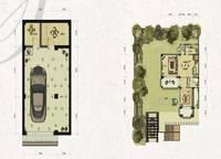双拼别墅S2-a户型一、二层 四室四厅三卫 281㎡ 4室3厅3卫1厨 281.00㎡