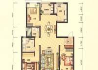 G1A户型 三室两厅两卫 125㎡ 3室2厅2卫1厨 125.00㎡