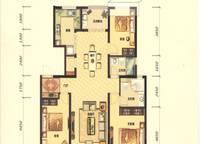 G1B户型 三室两厅两卫 125㎡ 3室2厅2卫1厨 125.00㎡