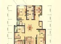 G2B户型 四室两厅两卫 141㎡ 4室2厅2卫1厨 141.00㎡
