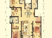 G3A户型 四室两厅两卫 143㎡ 4室2厅2卫1厨 143.00㎡
