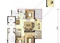 椰林晓风C2户型 3室2厅2卫1厨 116.00㎡