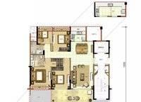 椰林晓风D1户型 4室2厅2卫1厨 135.00㎡
