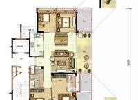 椰林晓风D3户型 4室2厅2卫1厨 135.00㎡