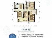 云海帆歌1Qe3户型 3室2厅3卫1厨 140.92㎡