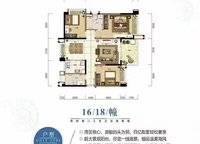 云海帆歌1Qe3户型 3室2厅2卫1厨 115.78㎡