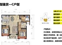 金沙湾C户型 3室2厅2卫1厨 115.00㎡