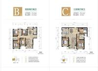 A/B/C/D户型 4室2厅1卫1厨 111.00㎡